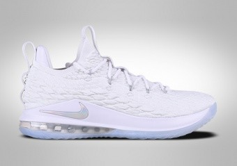 NIKE LEBRON 15 LOW WHITE METALLIC