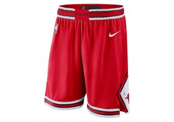 NIKE NBA CHICAGO BULLS SWINGMAN ROAD SHORTS UNIVERSITY RED