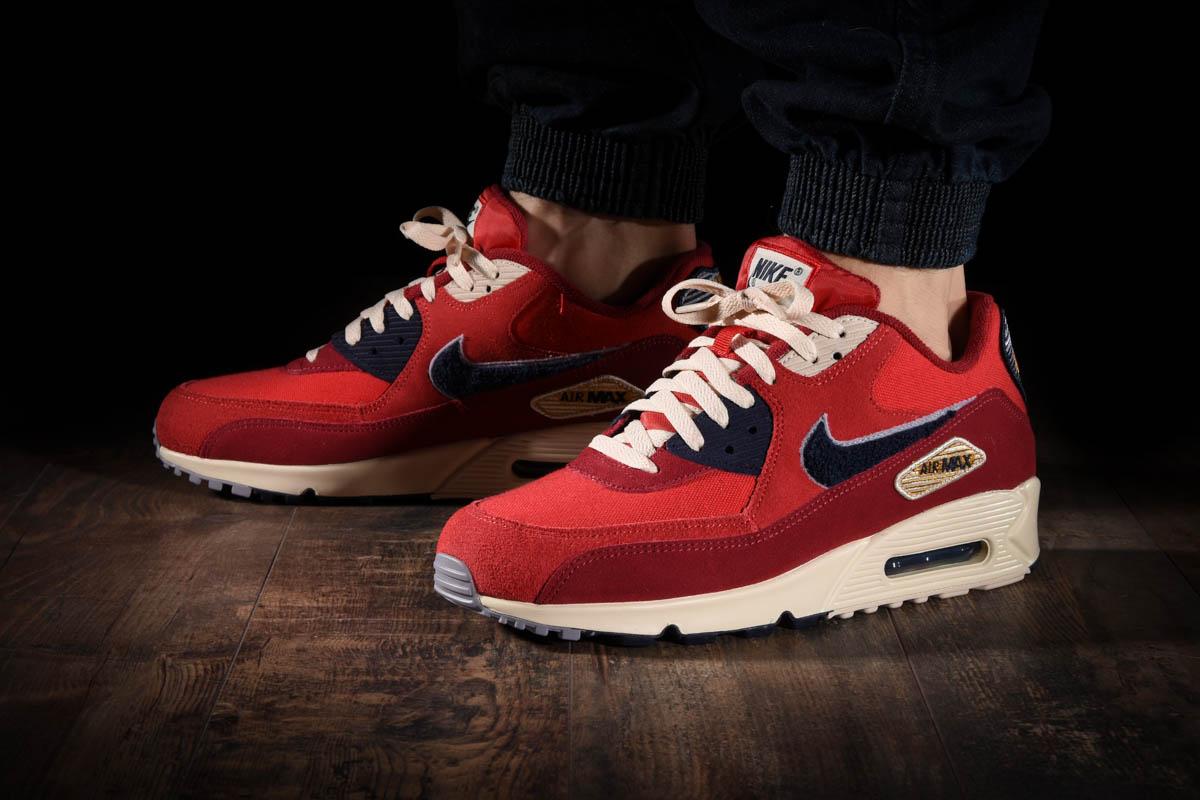 Nike Mens Air Max 90 Premium SE Running Shoe 9.5 Red