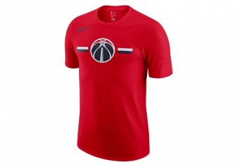 NIKE NBA WASHINGTON WIZARDS LOGO DRY TEE UNIVERSITY RED