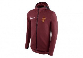 NIKE NBA CLEVELAND CAVALIERS THERMAFLEX SHOWTIME HOODIE TEAM RED