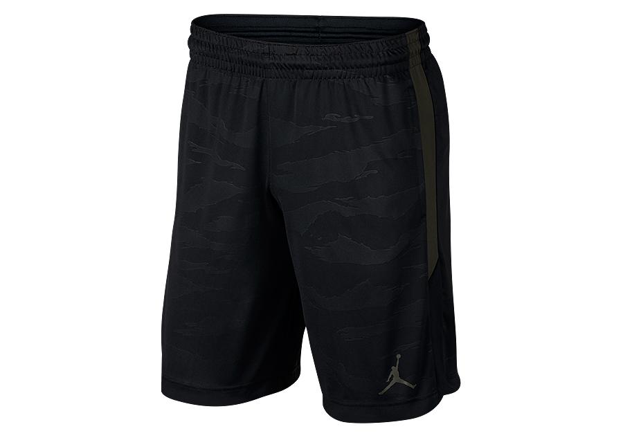 nike air jordan 23 alpha dry knit print shorts black