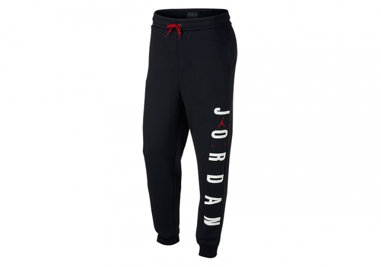 NIKE AIR JORDAN SPORTSWEAR JUMPMAN AIR FLEECE PANTS BLACK