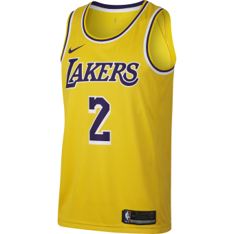 NIKE NBA LOS ANGELES LAKERS LONZO BALL SWINGMAN ROAD JERSEY