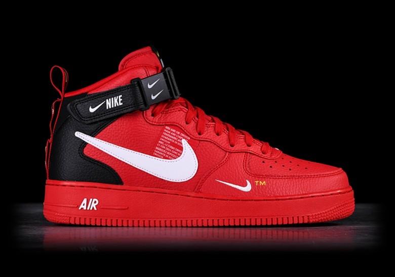 Nike Air Force 1 Mid 07 Lv8 Utility Red Por 127 50 Basketzone Net