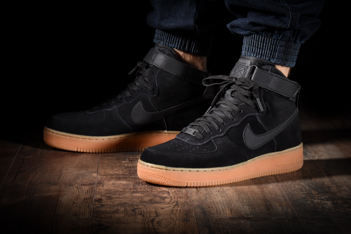 Nike AA1118 001 | Men's Nike Air Force 1 High 07 LV8 Suede Black