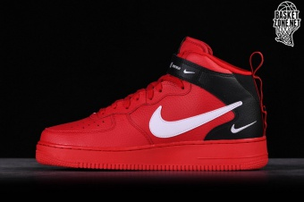 Mens Nike Air Force 1 '07 LV8 Utility October Red White 315122 111 Boys Casual Shoes Sneakers 315122 111A