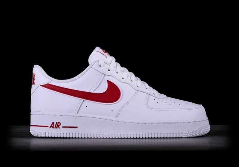 NIKE AIR FORCE 1 '07 WHITE GYM RED
