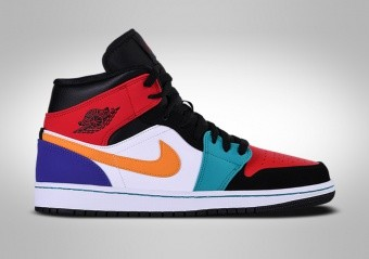 newest 35f44 7ad5a BASKETBALL SHOES. NIKE AIR JORDAN 1 RETRO MID MULTICOLOR