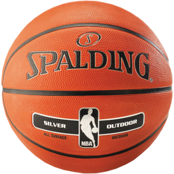 SPALDING NBA SILVER OUTDOOR (SIZE 6)