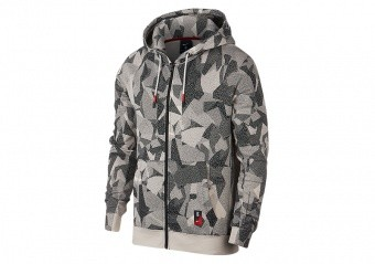 NIKE KYRIE FULL-ZIP HOODIE LIGHT OREWOOD BROWN