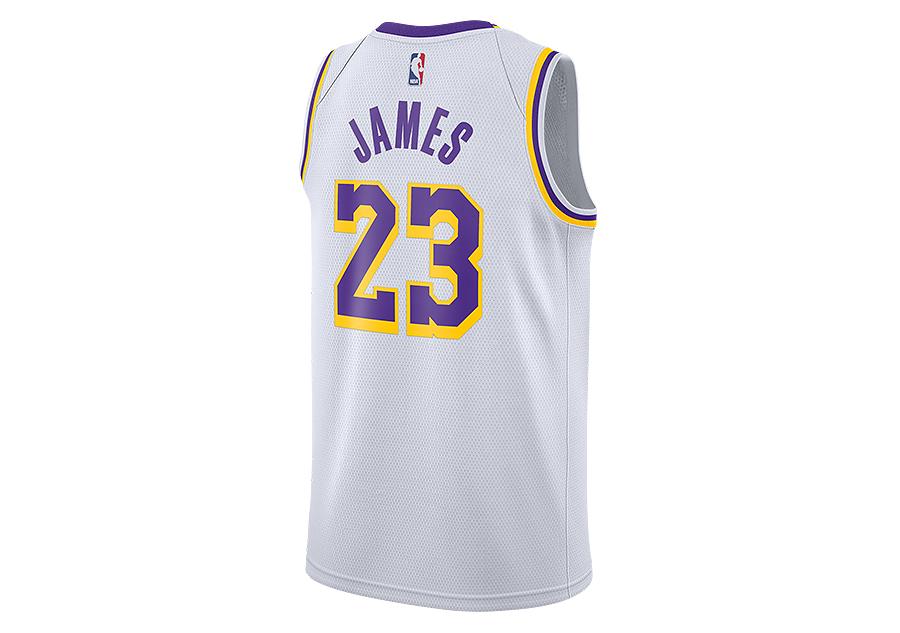 f9eb5ec98d00 NIKE NBA LOS ANGELES LAKERS LEBRON JAMES SWINGMAN HOME JERSEY WHITE ...