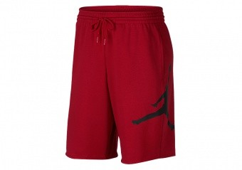 NIKE AIR JORDAN JUMPMAN FLEECE SHORTS GYM RED