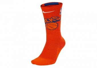 NIKE NBA NEW YORK KNICKS ELITE CREW SOCKS BRILLIANT ORNGE