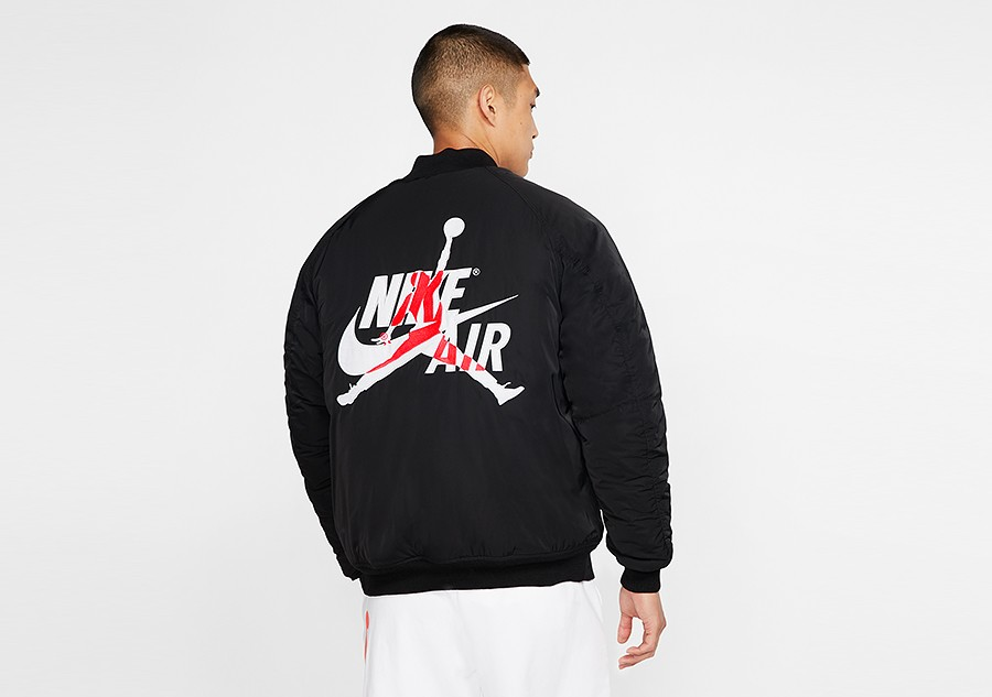 Estadísticas técnico amenaza  NIKE AIR JORDAN WINGS MA-1 JACKET BLACK price €202.50 | Basketzone.net
