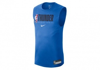 NIKE NBA OKLAHOMA CITY THUNDER TEE SIGNAL BLUE