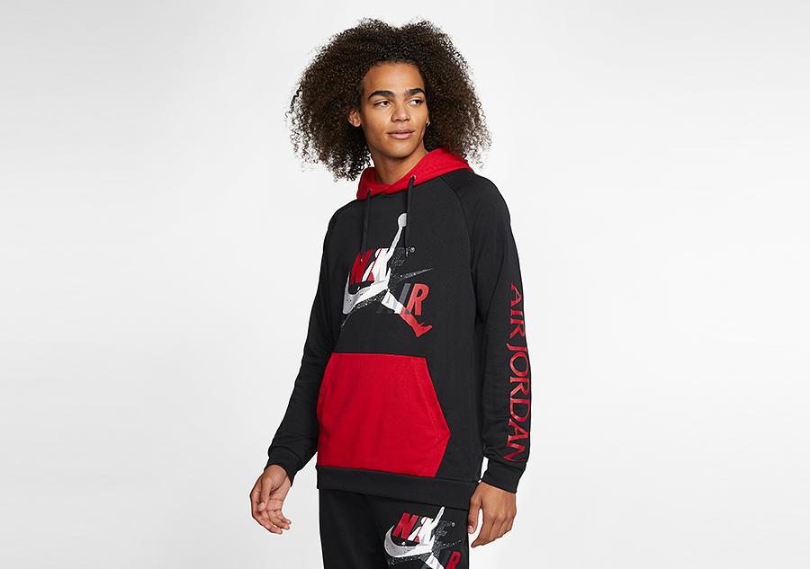 nike air jordan jumpman classics fleece pullover hoodie black
