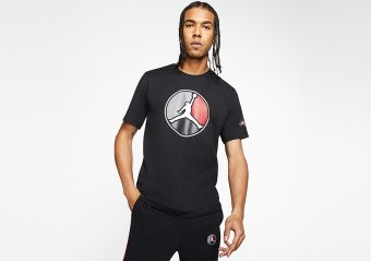 NIKE AIR JORDAN REMASTERED HBR CREW TEE BLACK