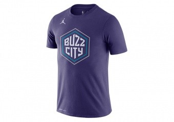 NIKE NBA HORNETS CITY EDITION DRI-FIT TEE NEW ORCHID