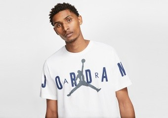 NIKE AIR JORDAN BRAND STRETCH TEE WHITE