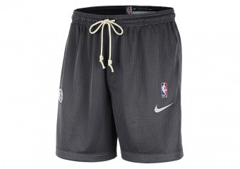 NIKE NBA BROOKLYN NETS STANDARD ISSUE REVERSIBLE SHORTS ANTHRACITE