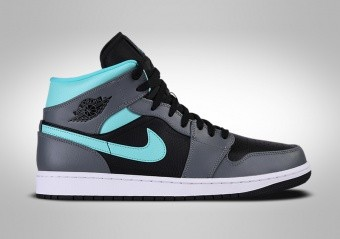 NIKE AIR JORDAN 1 RETRO MID GREY AQUA