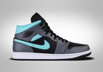 NIKE AIR JORDAN 1 RETRO MID GS GREY AQUA