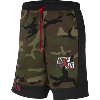 NIKE AIR JORDAN CLASSICS CAMO FLEECE SHORTS MEDIUM OLIVE