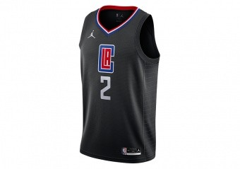 NIKE NBA LOS ANGELES CLIPPERS KAWHI LEONARD STATEMENT EDITION SWINGMAN JERSEY BLACK