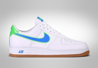 NIKE AIR FORCE 1 LOW WHITE BRIGHT BLUE GREEN
