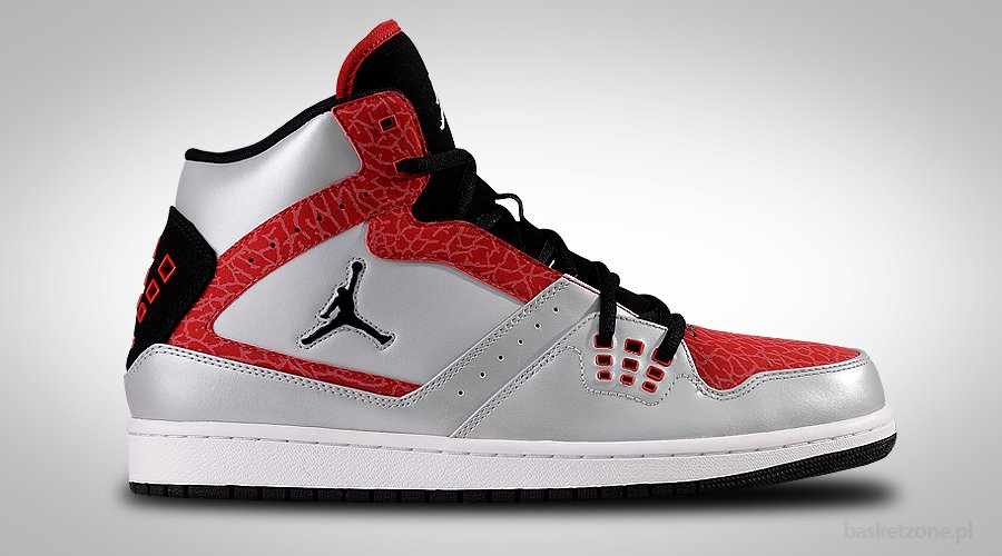 NIKE AIR JORDAN 1 FLIGHT PLATINIUM BLACK RED CEMENT