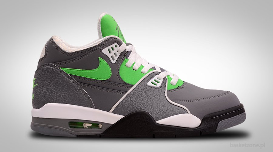 NIKE AIR FLIGHT '89 COOL GREY POISON GREEN