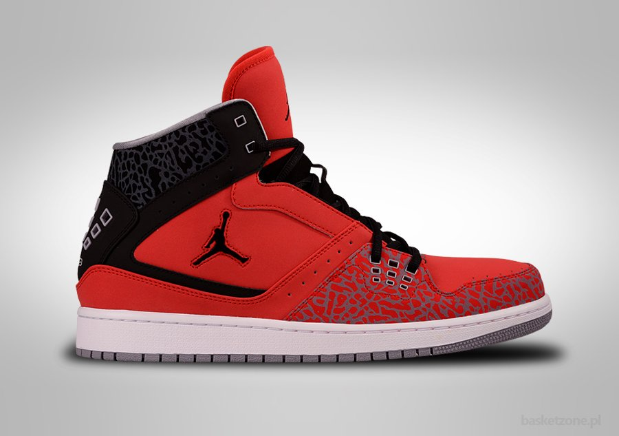 NIKE AIR JORDAN 1 FLIGHT FIRE RED BLACK CEMENT