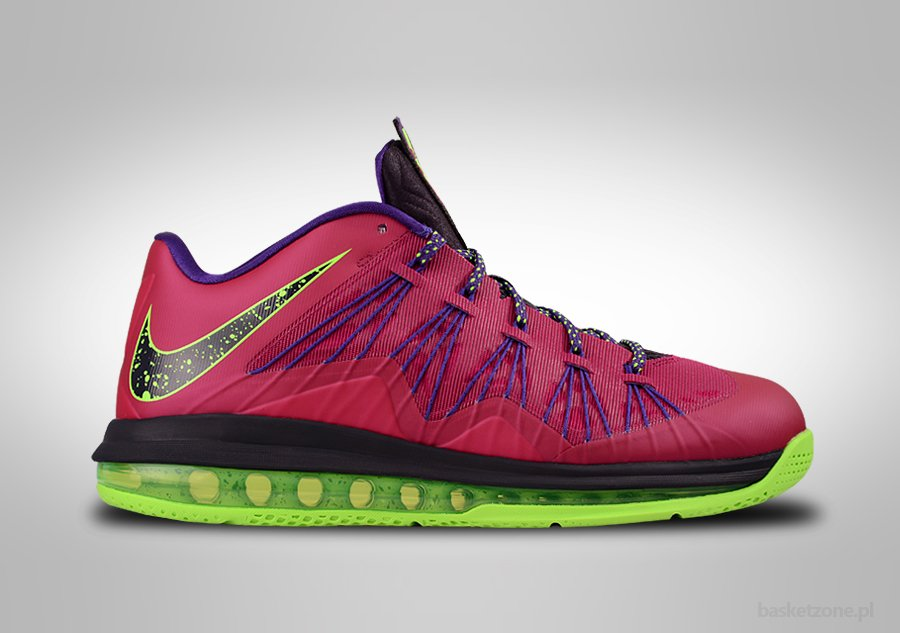NIKE AIR MAX LEBRON X LOW RASPBERRY RED BLUEPRINT