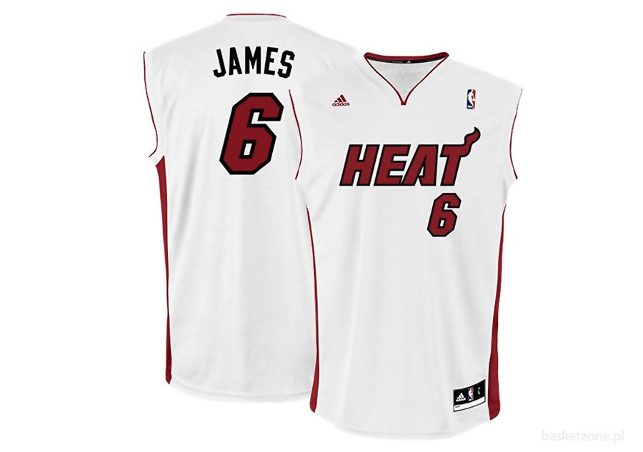 ADIDAS MIAMI HEAT HOME LEBRON JAMES REPLICA JERSEY