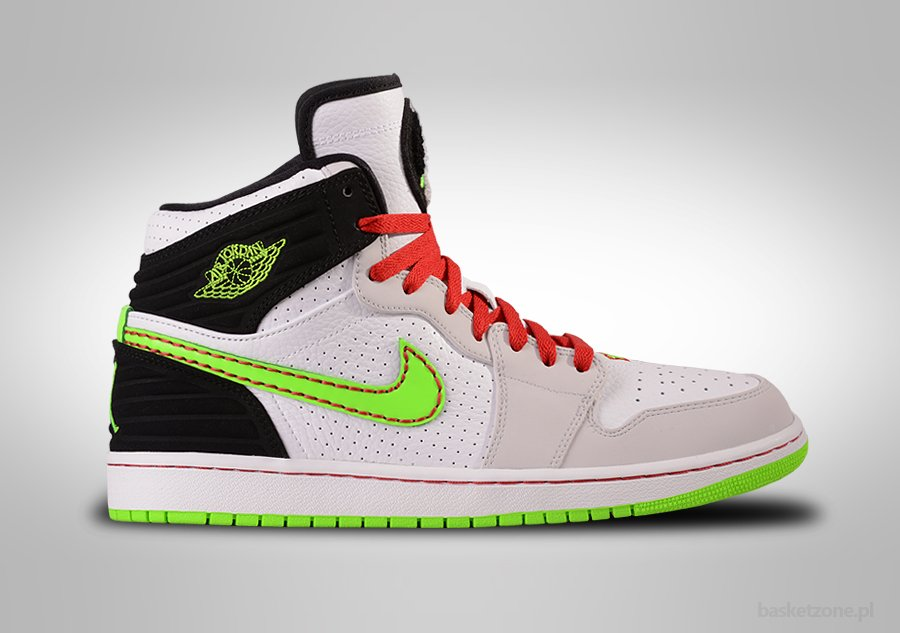 NIKE AIR JORDAN 1 RETRO '93 WHITE ELECTRIC GREEN