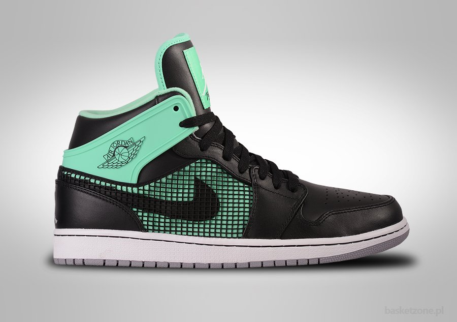 NIKE AIR JORDAN 1 RETRO '89 BLACK GREEN GLOW