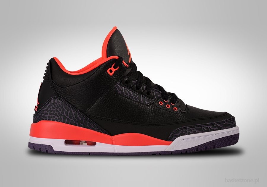 NIKE AIR JORDAN 3 RETRO BRIGHT CRIMSON GS GRADE SCHOOL (SMALLER SIZES)