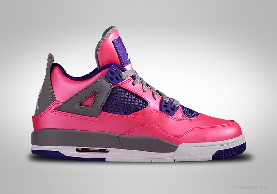 NIKE AIR JORDAN 4 RETRO PINK FOIL PURPLE GS GRADE SCHOOL (SMALLER SIZES)