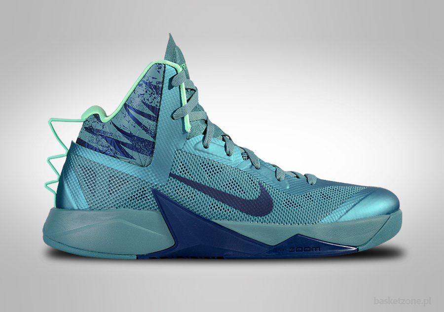 NIKE ZOOM HYPERFUSE 2013 MINERAL TEAL GREEN GLOW