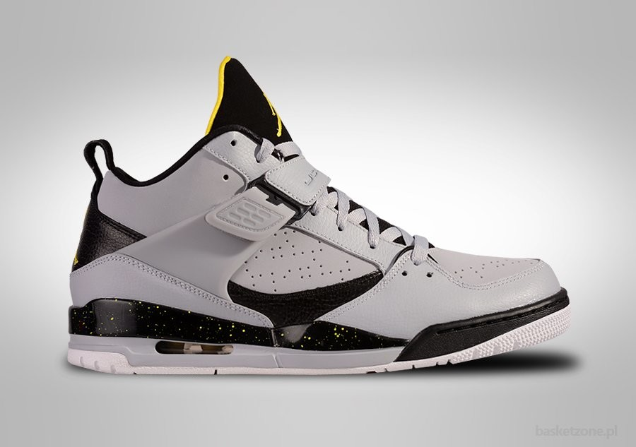NIKE AIR JORDAN FLIGHT 45 WOLF GREY VIBRANT YELLOW
