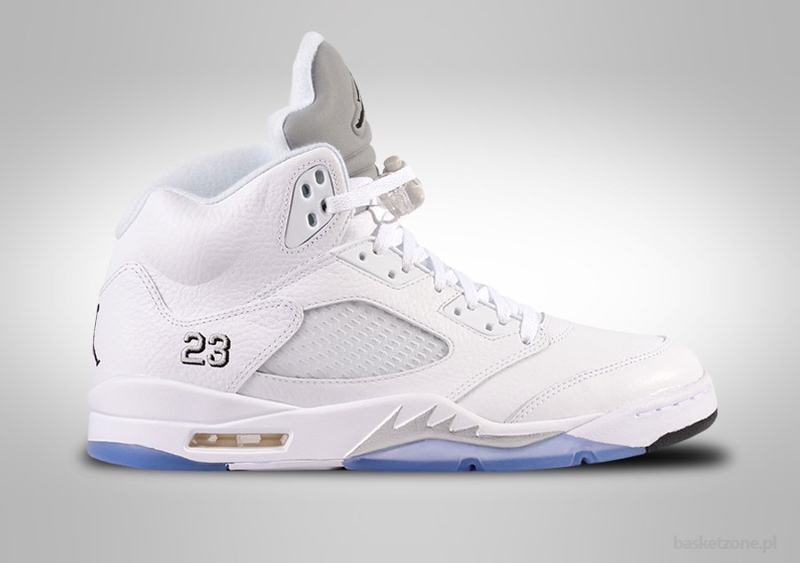 NIKE AIR JORDAN 5 RETRO WHITE METALLIC SILVER