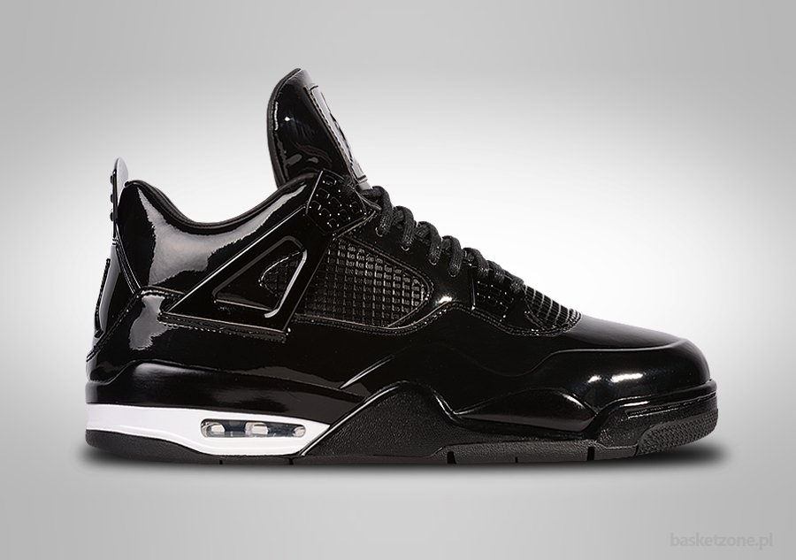 NIKE AIR JORDAN 4 RETRO 11LAB4 BLACK PATENT