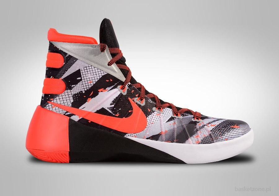 NIKE HYPERDUNK 2015 PRM WHITE/BRIGHT CRIMSON-BLACK