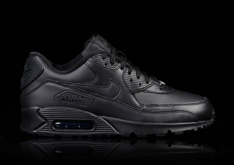 premium selection 8af38 358d8 NIKE AIR MAX 90 LEATHER INTENSE BLACK