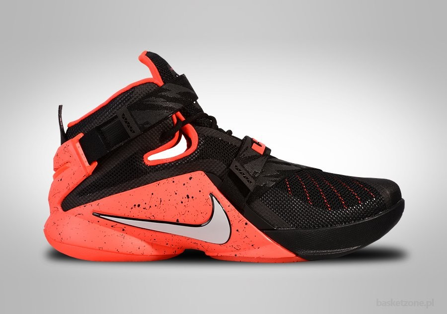 NIKE LEBRON SOLDIER IX PRM BLACK/WHITE-BRIGHT CRIMSON