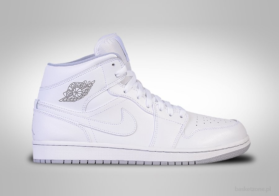 premium selection 1ee51 6c157 NIKE AIR JORDAN 1 RETRO MID WHITE WOLF GREY