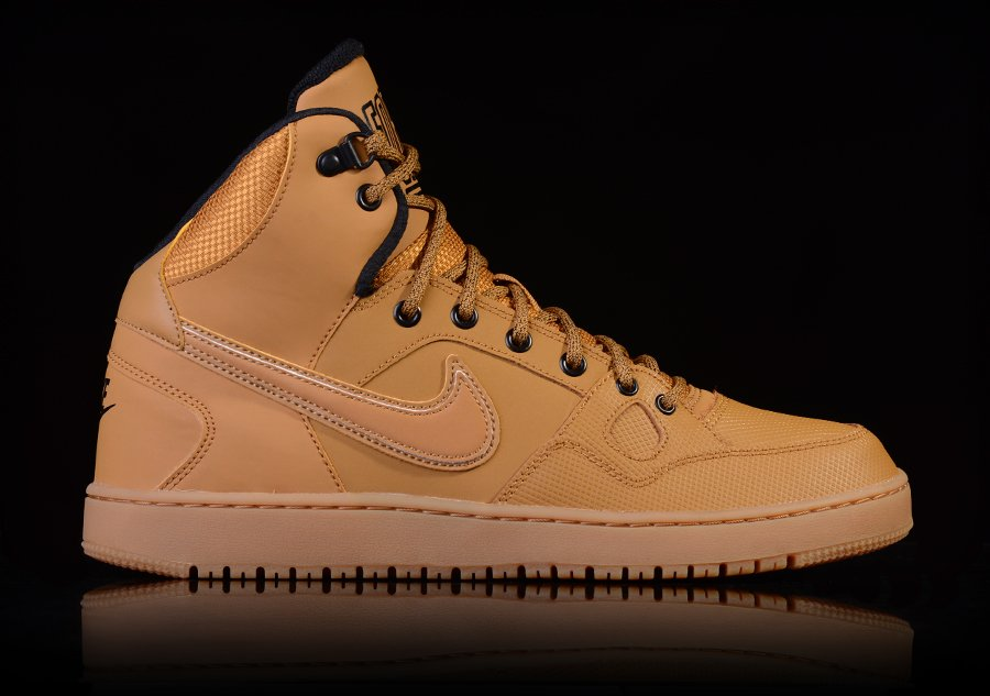 NIKE SON OF FORCE MID WINTER WHEAT-BLACK-GM LGHT BRWN
