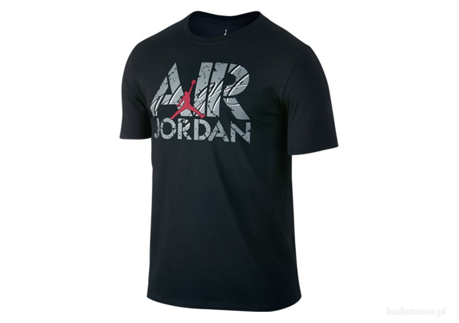 NIKE AIR JORDAN FLIGHT TEE BLACK/COOL GREY