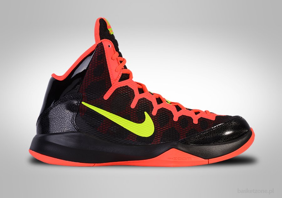 NIKE ZOOM WITHOUT A DOUBT BLACK/VOLT BRIGHT CRIMSON
